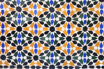 Arabic tile background. Alhambra of Granada.