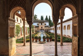 Gardens of the Generalife. Alhambra of Granada