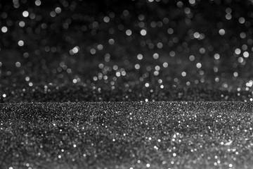 glitter vintage lights background. silve defocused