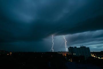Lightning storm in Minsk