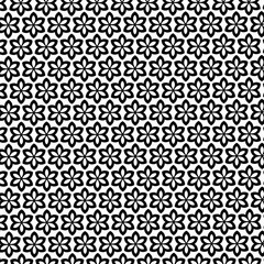 black and white vector flowers geometric pattern