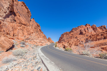 Road Through Valley of Fire State Park Nevada