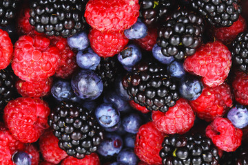 Berries mix fruit color food dessert sweet photo stock