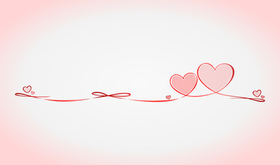 Herzen Schleife Silhouette