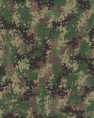 Digital fashionable camouflage pattern, military print .Seamless illustration, wallpaper