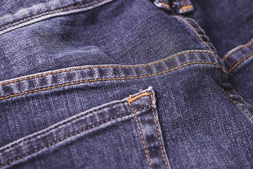 Close-up of blue jeans.
