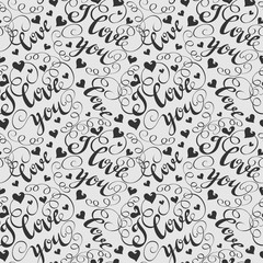 Abstract background with text I love you