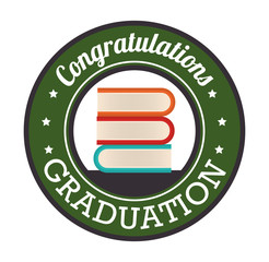 graduation card isolated icon vector illustration design