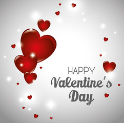 happy valentines day card vector illustration design