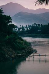 Laung Prabang and the Mekong River at Sunset