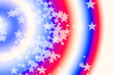 Patriotic Background stars and Stripes USA bokeh stars soft focus