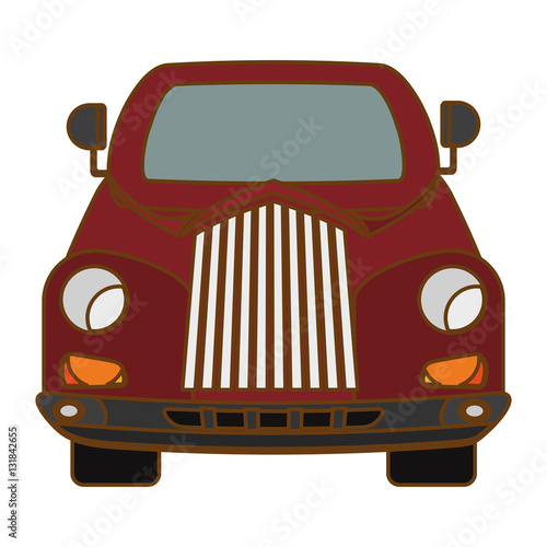 car vehicle icon over white background. colorful design. vector illustration