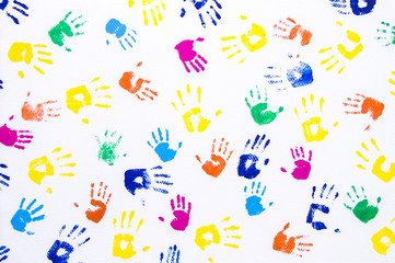 Handprint Orange Photos Royalty Free Images Graphics