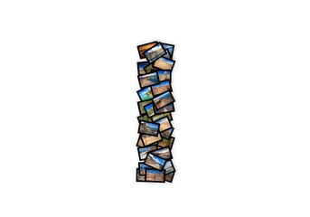Letter I uppercase font shape alphabet collage made of my best landscape pictures.