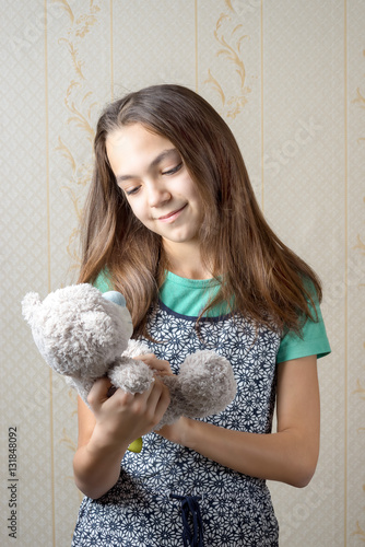 """11 Year Girl Bedroom Decoration Ideas: """"11 Year Old Girl Holding A Teddy Bear And Looking At Him"""
