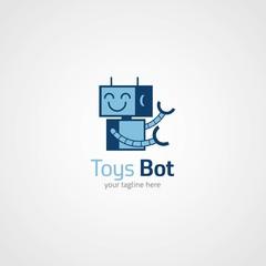toy shop logo design template. vector illustration. Flat style