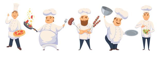 Chefs in restaurant