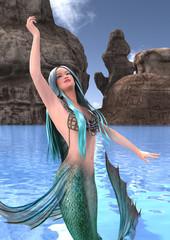 3D Rendering Fantasy Mermaid