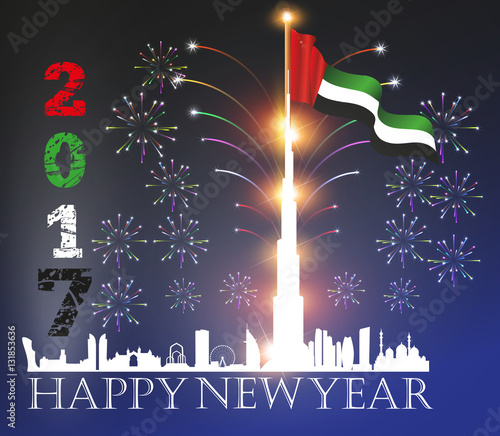 united arab emirates uae happy new year 2017