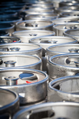 Stack of beer barrels