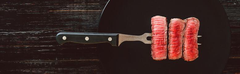Deurstickers Steakhouse beef steak