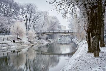 Small river in winter
