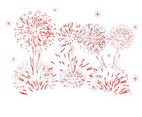 célébration feu d'artifice fête rouge