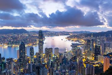 Hong Kong city at morning