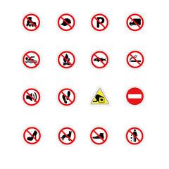 Panneaux pictogramme interdictions diverses