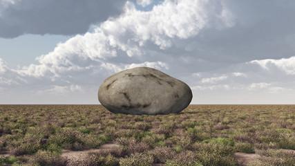 Felsbrocken in einer Landschaft