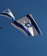 Two Israel flags.