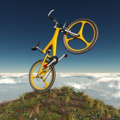 Mountainbike auf dem Berg