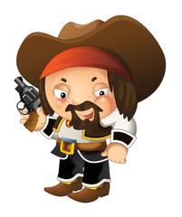 Cartoon western cowboy - isolated - illustration for children