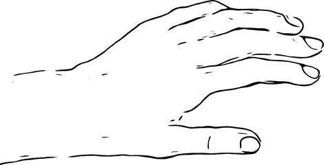 Emotionen auf die anderen übertragen. Offene Hände