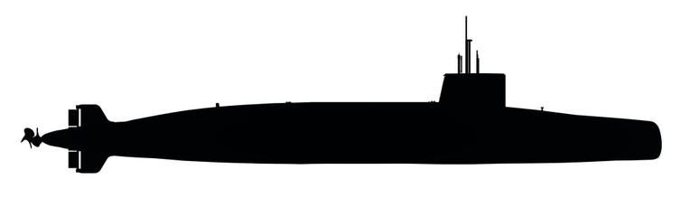 Silhouette eines modernen Unterseebootes