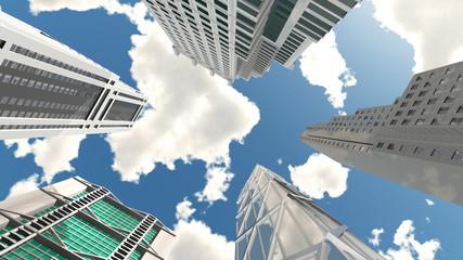 Wolkenkratzer, Untersicht