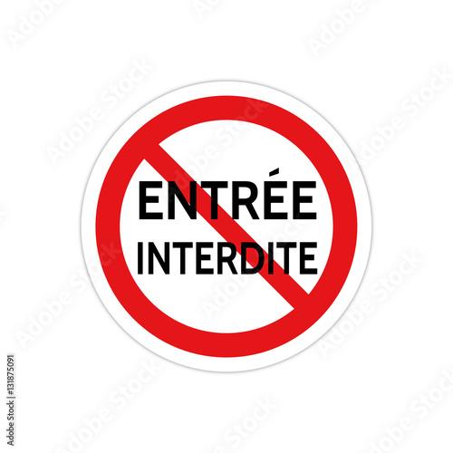 Panneau signalisation pictogramme interdiction stock - Panneau signalisation interdiction ...