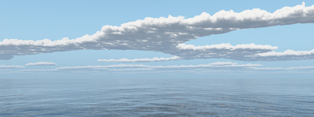 Wolkengebilde über dem Meer