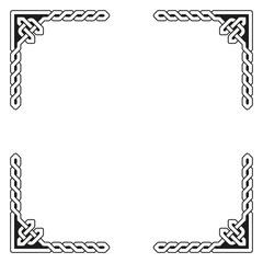 Decorative Celtic Frame Vector Illustration
