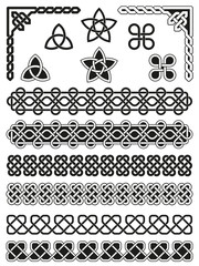 Traditional Celtic Design Elements Collection with corners, borders and embellishments