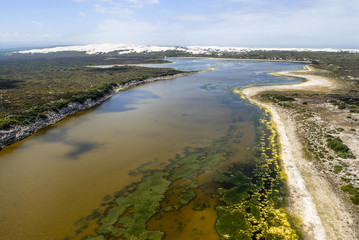 Aerial view of the De Hoop Vlei wetland system