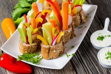 Frisches Gemüse - Rohkost - Diät