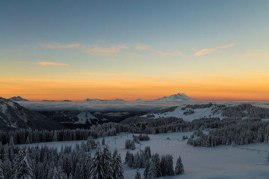 Sunrise over the Alps