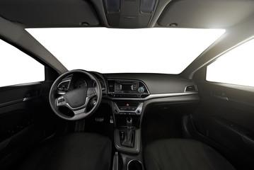 interior of car dashboard