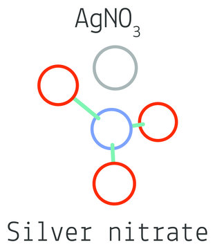 Silver nitrate AgNO3 molecule