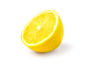 Juicy yellow slice of lemon