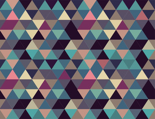 Abstract relaxing background pattern seamless triangles repeating in soft pastel colors: light blue, pink, light purple, aquamarine.