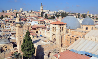 Church of the Holy Sepulchre, Church of the Resurrection or Church of the Anastasis by Orthodox Christians in the Christian Quarter is a church of the Old City of Jerusalem