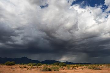 Dramatic dark thunderstorm clouds