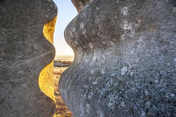 Durchblick bei Stein im Steinbvruch